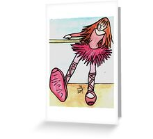 Best Foot Forward Ballet Dancer Greeting Card