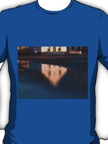 Reflection of a house in a water pond T-Shirt