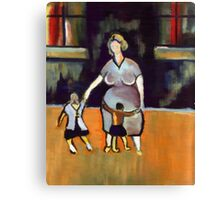 Motherhood ( from my original acrylic painting digitally enhanced) Canvas Print
