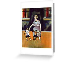 Motherhood ( from my original acrylic painting digitally enhanced) Greeting Card