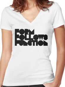 F F F Women's Fitted V-Neck T-Shirt