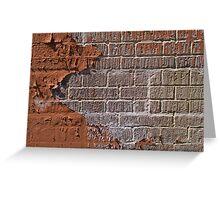 Textured red bricks wall Greeting Card