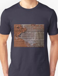 Textured red bricks wall Unisex T-Shirt
