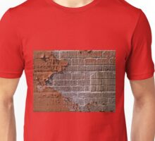 Textured red bricks wall Unisex T-Shirt