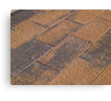 Details of stone garden tiles Canvas Print
