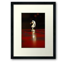 Winning Piece on Chess Framed Print