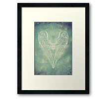 Vintage Battered Heart Framed Print