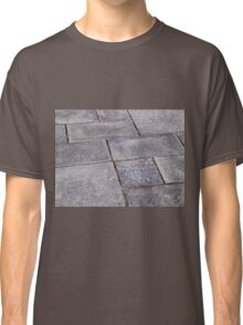 Details of gray stone garden tiles Classic T-Shirt