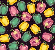 epic bell peppers in space by smalldrawing