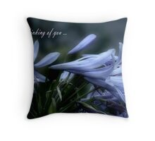 Moonlit Lavender Petals watercolour Card Throw Pillow