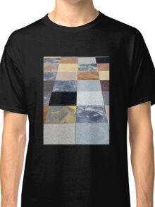 Display of different stone granite floor tiles Classic T-Shirt