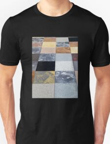 Display of different stone granite floor tiles T-Shirt