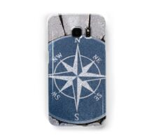 Compass directions wind rose Samsung Galaxy Case/Skin