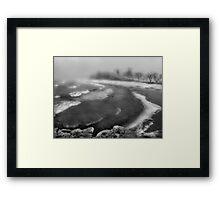 Snowstorm in B&W Framed Print