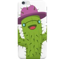 Hippie Cactus Print / Funny Cactus Artwork iPhone Case/Skin