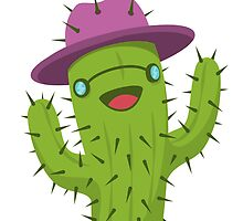 Hippie Cactus Print / Funny Cactus Artwork by twister025