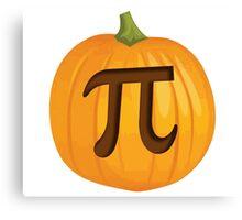 Halloween Pumpkin Pie Pi Canvas Print