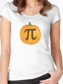 Halloween Pumpkin Pie Pi Women's Fitted Scoop T-Shirt