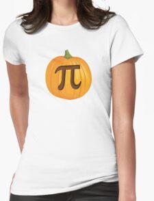 Halloween Pumpkin Pie Pi Womens Fitted T-Shirt