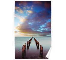 Sunset at Clifton Springs Poster
