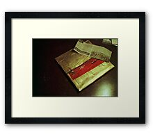 Osama's Christmas present to the West. Framed Print