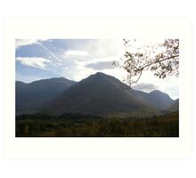 Peaks of Glencoe Art Print