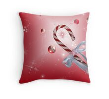 A Red Bubble Christmas Throw Pillow