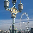 London eye and lamp post by sasjacobs