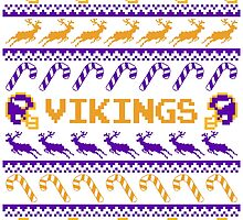 Vikings Football Christmas Ugly Sweater - Minnesota Football by CosmikMonkey