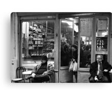 Bar Tabac, Rue Mouffetard, Paris, December 2004 Canvas Print