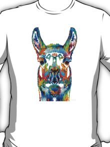 Colorful Llama Art - The Prince - By Sharon Cummings T-Shirt