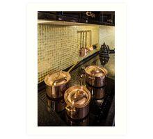 kitchen copper utensils Art Print