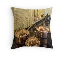 kitchen copper utensils Throw Pillow