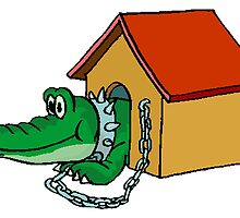Alligator In Doghouse by kwg2200