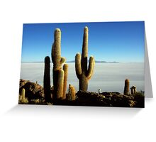 salar de uyuni Greeting Card