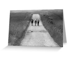 Three on the Way of Saint James Greeting Card