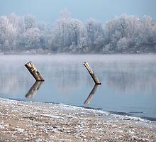 Winter river landscape by mrivserg