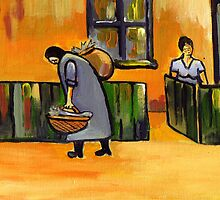 The fish seller ( from my original acrylic painting ) by sword