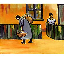 The fish seller ( from my original acrylic painting ) Photographic Print