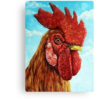 ROOSTER - realistic oil painting farm animal Canvas Print