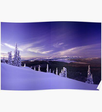 Alpine Blue Poster