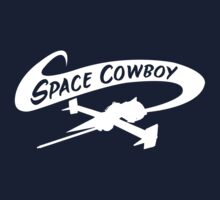 Space Cowboy in White Kids Tee