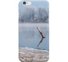Winter river landscape iPhone Case/Skin