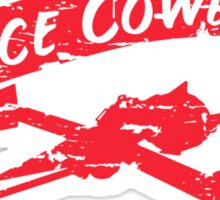 Space Cowboy - Distressed Red Sticker