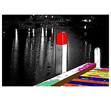 Red Pole Photographic Print