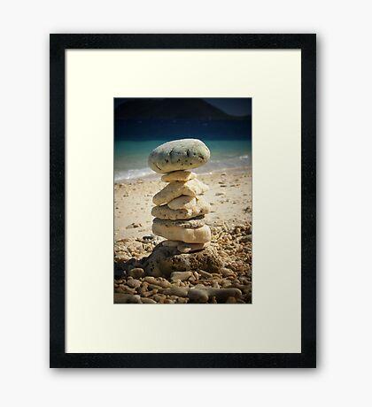 Coral Jenga Framed Print