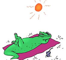 Alligator Sunbathing by kwg2200