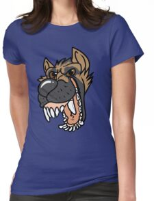 Toothy Pup - German Shepherd Womens Fitted T-Shirt
