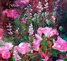 Pink azalea by liboart