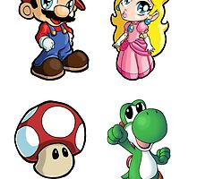 Super Mario Bros. Characters Sticker Sheet Collection by 57MEDIA